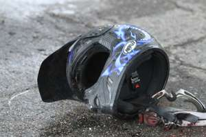 Śmiertelny wypadek pod Olsztynkiem. Zginął 22-letni pasażer motocykla