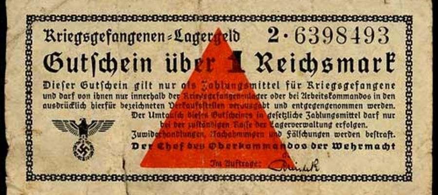 Lagergeld – pieniądz obozowy o wartości 1 marki