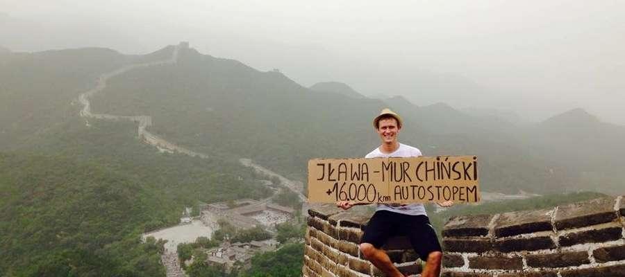 Zdjęcie Marcina Miłoszewskiego na Murze Chińskim miało w internecie aż 320 tysięcy wyświetleń!