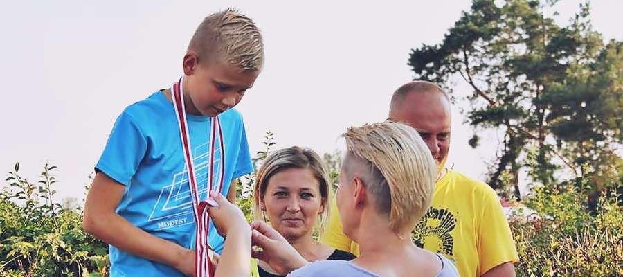 Marcel Jasiński zwyciężył w kategorii 11-15 lat
