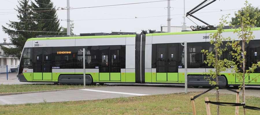 Olsztyński tramwaj przejechał kilkaset metrów. Testy w zajezdni