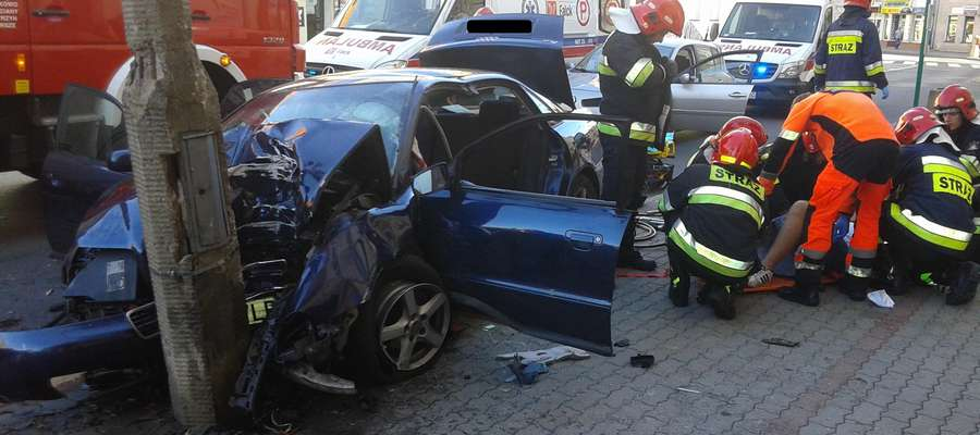 Wypadek w centrum Kętrzyna