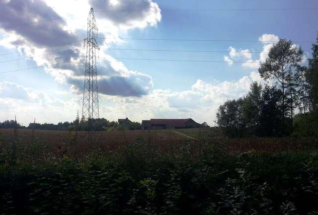 Widok na Różnowo z drogi do Dąbrówki
