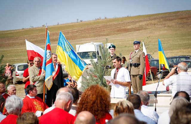 Odbudowano kolejny polski cmentarz wojenny na Ukrainie - full image