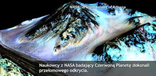 Woda w stanie ciekłym odkryta na Marsie. Przełom w badaniach Czerwonej Planety  - full image