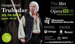 Nowy sezon Metropolitan Opera w Filharmonii Warmińsko-Mazurskiej