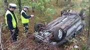 Groźny wypadek, ale na szczęście kierowca przeżył