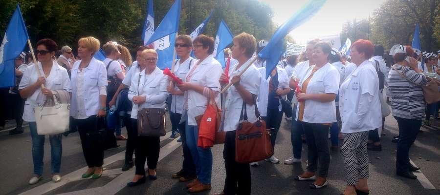 Pielęgniarki z Żuromina wzięły udział w ogólnopolskim proteście