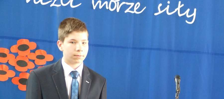 Dominik Bilicki z Kisielic w nagrodę otrzymał tablet oraz jednorazowe stypendium