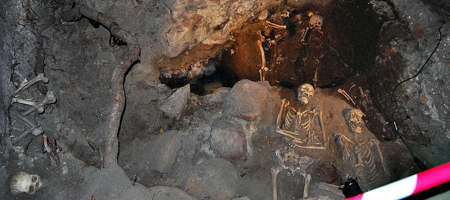 Grób na grobie. Marek Gierlach szacuje, że w rejonie skwerku przy 19 Stycznia, gdzie stała m.in. gotycka fara, pochowanych mogło zostać nawet do półtora tysiąca ludzi. Najstarsze szczątki pochodzą z XIII wieku