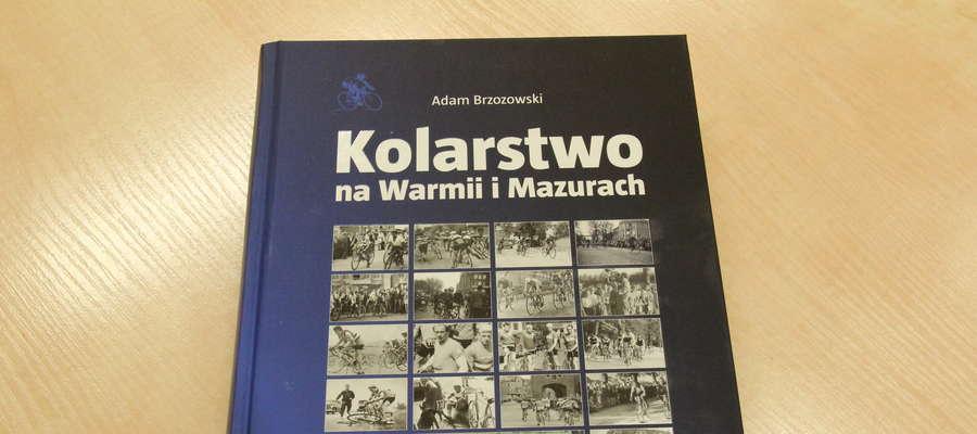 Okładka historii kolarstwa na Warmii i Mazurach