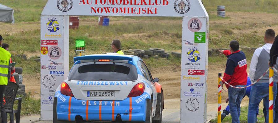 Zbigniew Staniszewski, znany zawodnik olsztyński na starcie Rally Sprintu