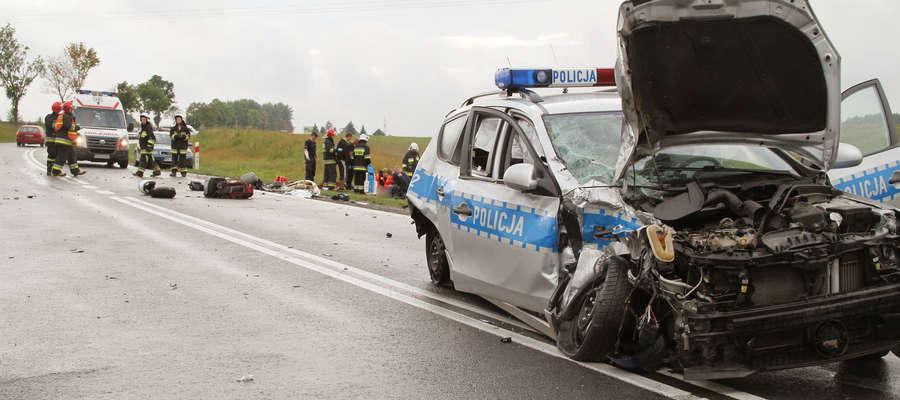 41-letni motocyklista z Iławy zginął po zderzeniu z policyjnym radiowozem