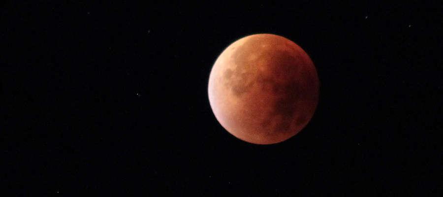 Zaćmienie Księżyca (krwawy Księżyc) 28 września 2015 r. godz. ok. 5:30 - 6:00