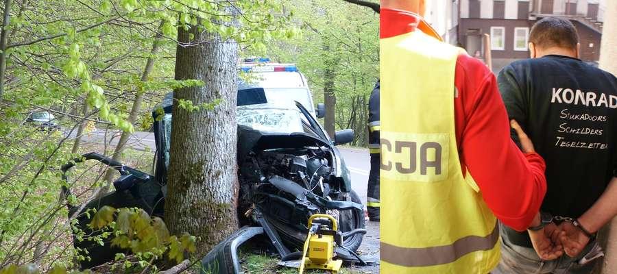 Do wypadku doszło na początku maja na ul. Fromborskiej. Policjanci zatrzymali Jarosława N. Był pijany