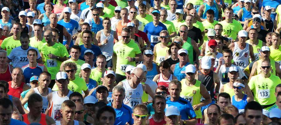 Start IV Iławskiego Półmaratonu