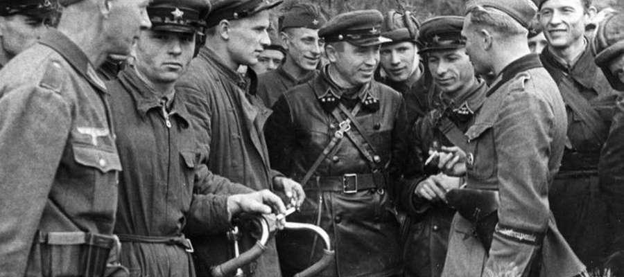 Spotkania sowieckich i niemieckich żołnierzy 20 września 1939 r. w pobliżu Brześcia.
