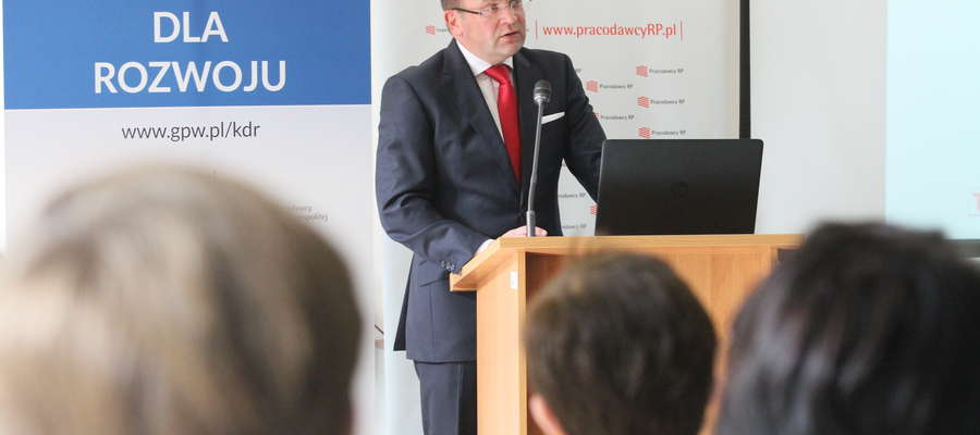 Grzegorz Zawada, wiceprezes Giełdy Papierów Wartościowych, liczy na to, że kolejne przedsiębiorstwa z Warmii i Mazur trafią na warszawską giełdę
