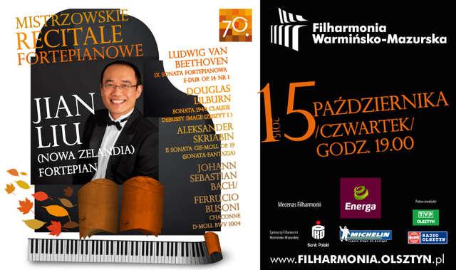 Jian Liu – mistrzowski recital fortepianowy w filharmonii - full image