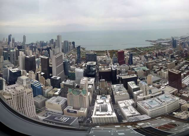 Panorama Chicago z Willis Tower (dawniej Sears Tower) - full image