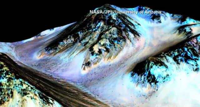 Na Marsie jest woda w stanie ciekłym - potwierdziły to badania sondy MRO