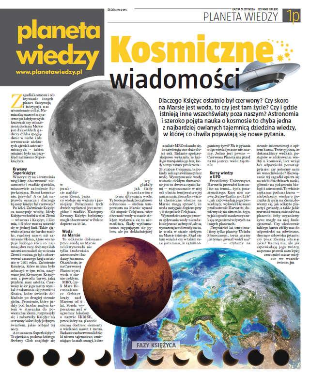 Planeta Wiedzy - wydanie październikowe! - full image