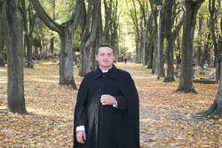 """Ks. Sławek Skorupski, opiekun wspólnoty """"Owczarnia Pana"""" przy parafii św. Józefa w Olsztynie."""