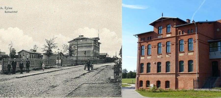 Budynek przy ul. Dąbrowskiego 11 i jego okolice — kiedyś i dziś