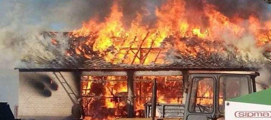 Stodoła płonęła jak pochodnia