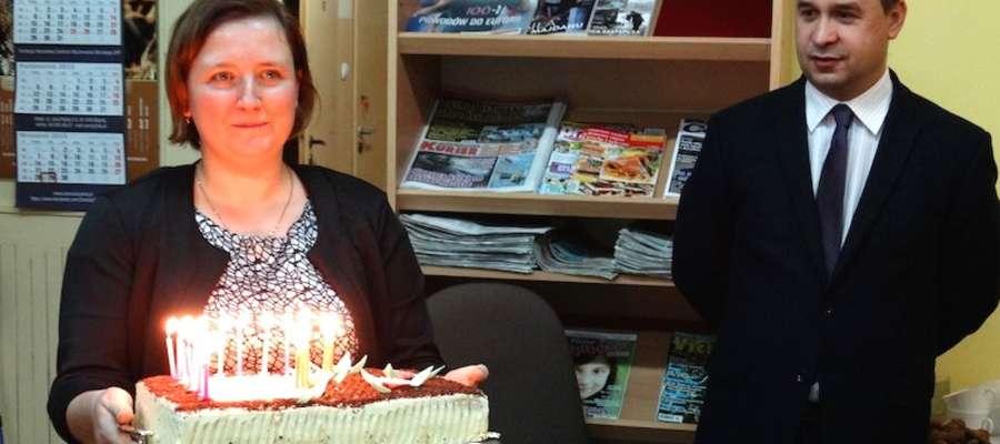 Jedną z niespodzianek był urodzinowy tort