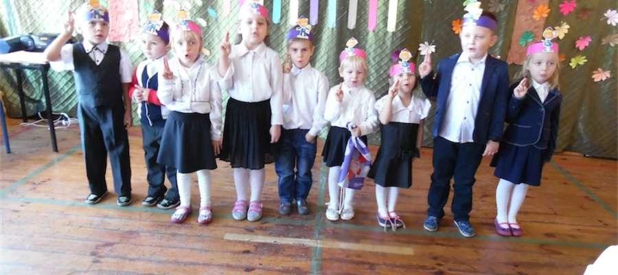 Dzieci z przedszkola ślubują...