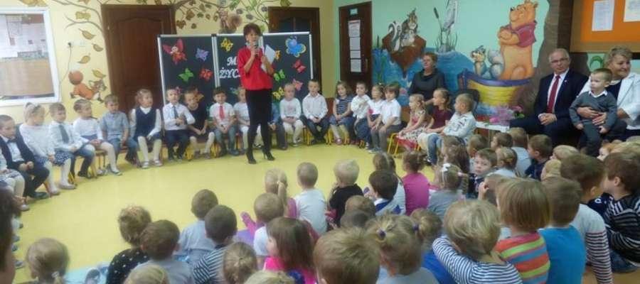 Podczas spotkania z okazji Dnia Nauczyciela