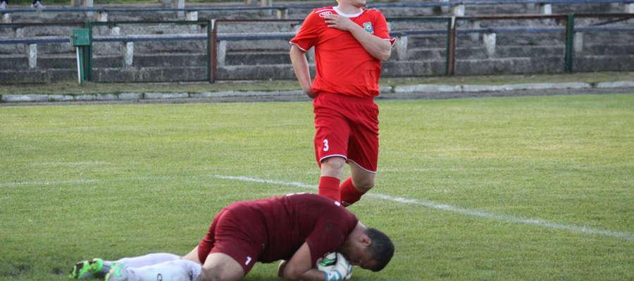 Damian Skoczeń strzelił gola, który dał Łynie Sępopol trzy punkty