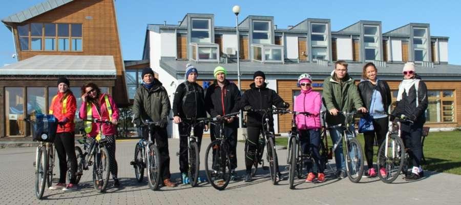 Uczestnicy jesiennego rajdu rowerowego Aktywnego Giżycka
