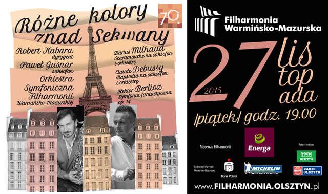 Różne kolory znad Sekwany w Filharmonii Warmińsko-Mazurskiej - full image