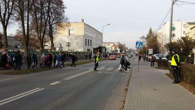 Przejście dla pieszych na dk nr 15