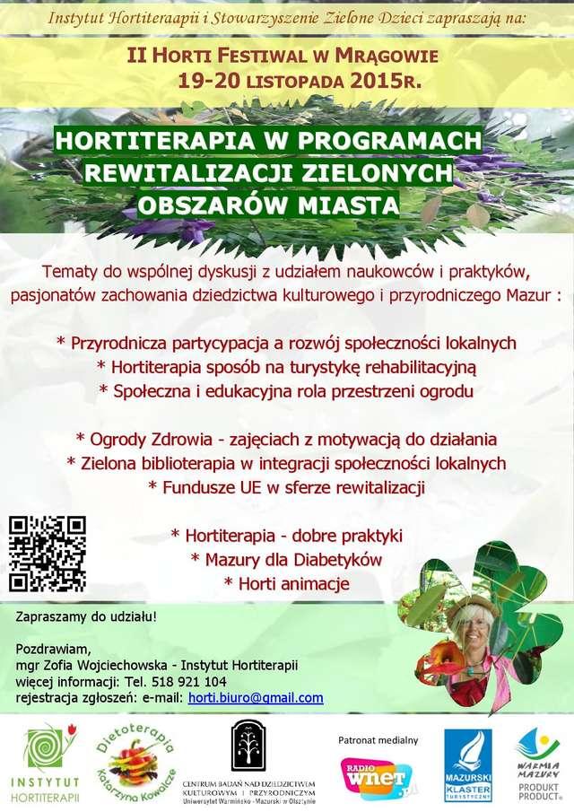 II Horti Festiwal w Mrągowie - rewitalizacja i odnowa w ogrodzie  - full image