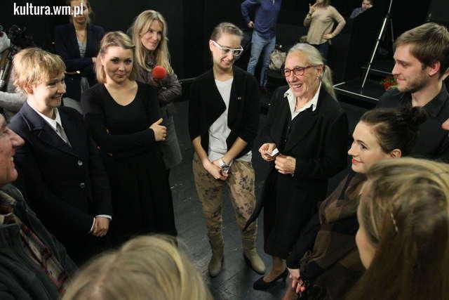 Maja Komorowska pracowała ze studentami olsztyńskiego Studium Aktorskiego - full image