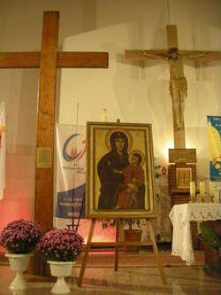 Symbole ŚDM - Krzyż i ikona Matki Bożej