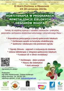 II Horti Festiwal w Mrągowie - rewitalizacja i odnowa w ogrodzie