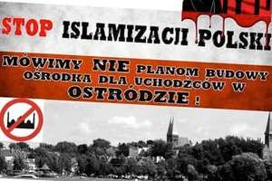 Manifestacja przeciwko uchodźcom w Ostródzie. Chociaż ich tu nie będzie