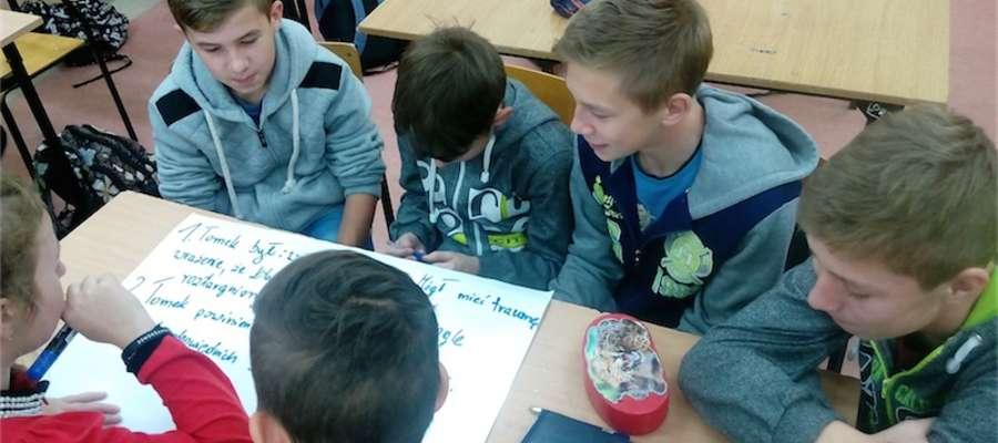 Podczas zajęć w szkole w Mrocznie