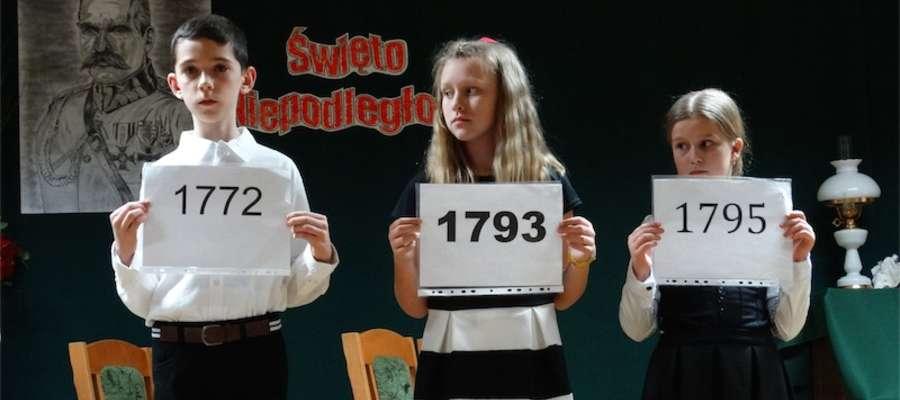 Montaż słowno-muzyczny przygotowali uczniowie ze szkoły w Brzoziu Lubawskim