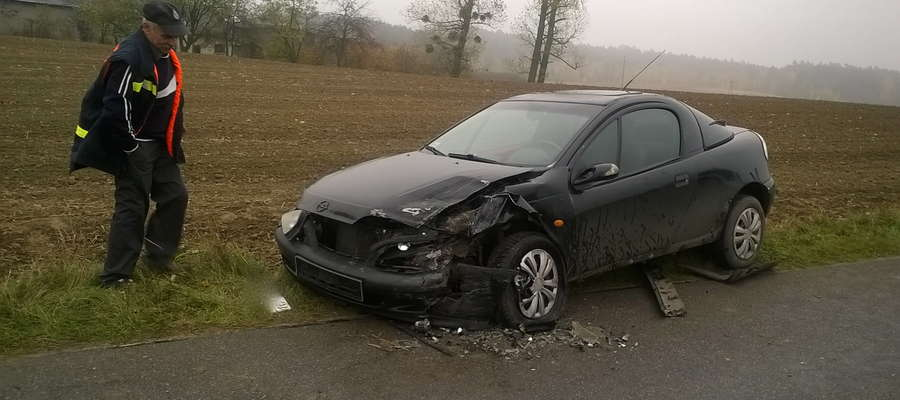 Opel tigra po wypadku