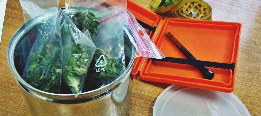 Zabezpieczona przez płońskich policjantów marihuana