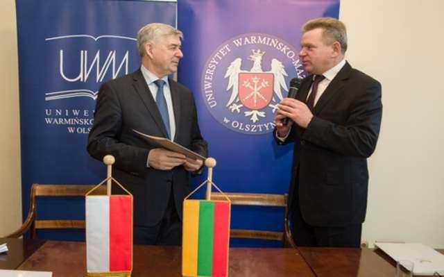 Delegacja z Litwy odwiedziła UWM - full image