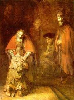 Rembrandt, Powrót syna martnotrawnego. Rok Miłosierdzia jest szansą na zobaczenie w Bogu Ojca, który wyczekuje nas z tęsknotą.