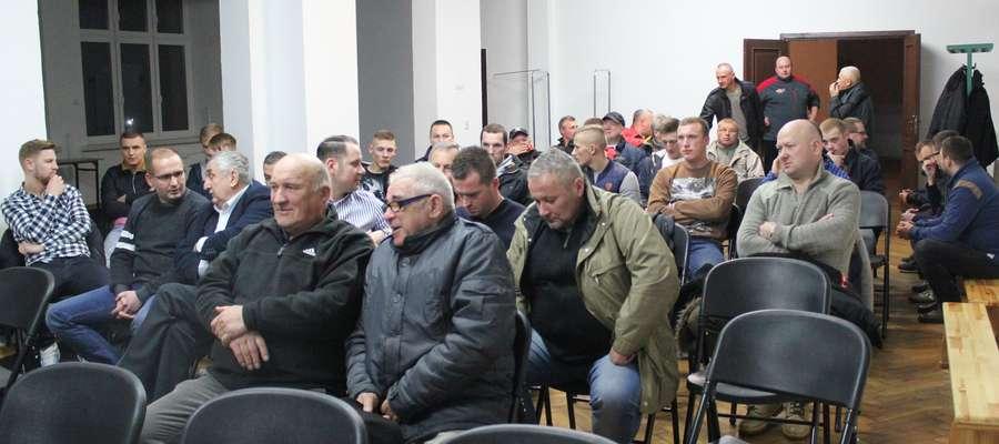 Na zebraniu pojawiło się niewielu działaczy Mławianki