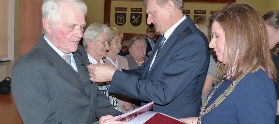 Gratulacje i odznaczenia od wójta gminy Iława Krzysztofa Harmacińskiego
