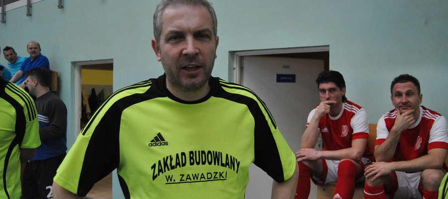 Wojciech Tarnowski, tu akurat jako reprezentant drużyny oldbojów Jezioraka Iława